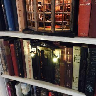 Een schattig ruitje met veel boeken
